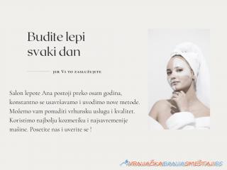 Salon lepote Ana -   Vrnjačka Banja Kozmeticki