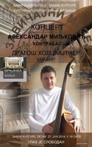 концерт контрабасисте Александра Миљковића -   Vrnjačka Banja Vesti